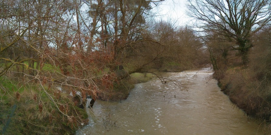A muddy River Beult at Mill Lane