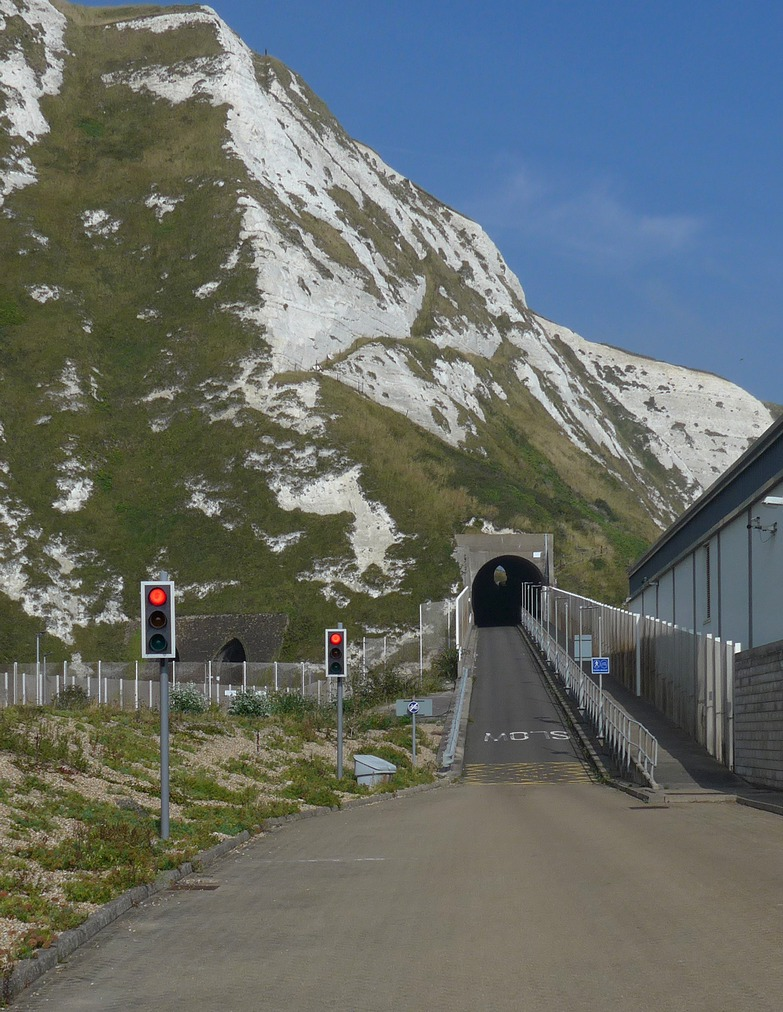 The tunnel up out of Samphire Hoe