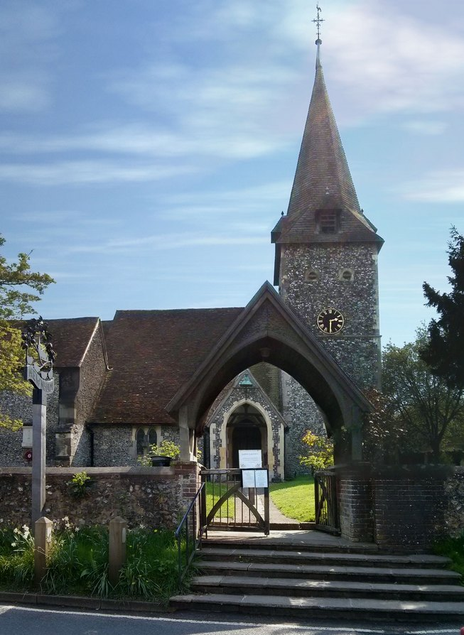 The church of St Peter and St Paul, The Street, Newnham