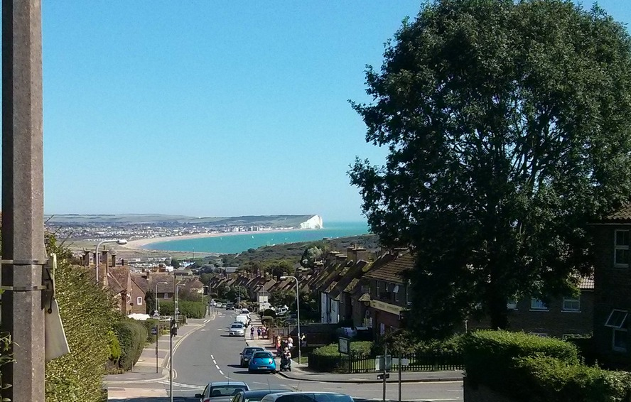 I wonder if the residents of Gibbon Road, Newhaven ever get used to this view of Seaford Bay
