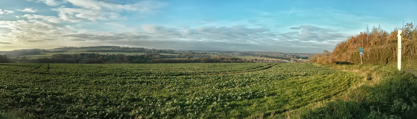 View towards Wateringbury from Kenward Road