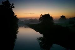 Misty fields from Twyford Bridge, Yalding