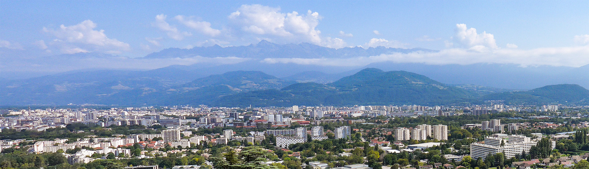 Panoramic view over Grenoble