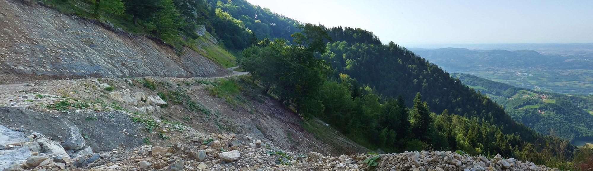 Landslide le Tunnel Mortier