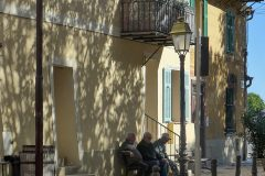 Three men sitting, Gilette, Alpes-Maritimes