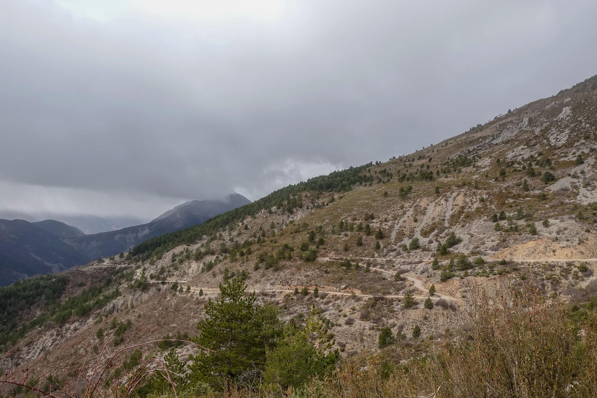 Gravel track to La Croix sur Roudoule
