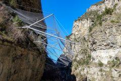 Rock reinforcement on D28 Gorges du Cians